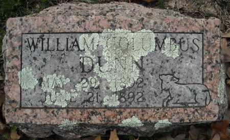 DUNN, WILLIAM COLUMBUS (2 STONES) - Faulkner County, Arkansas | WILLIAM COLUMBUS (2 STONES) DUNN - Arkansas Gravestone Photos