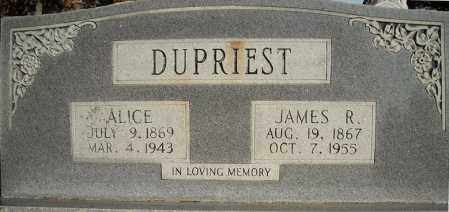 DUPRIEST, JAMES R. - Faulkner County, Arkansas | JAMES R. DUPRIEST - Arkansas Gravestone Photos