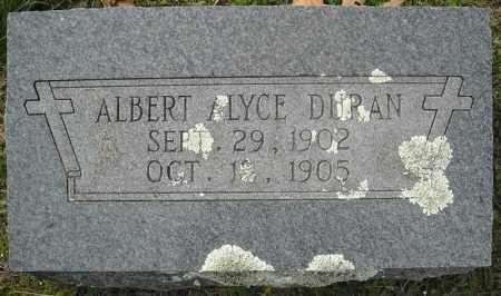 DURAN, ALBERT ALYCE - Faulkner County, Arkansas | ALBERT ALYCE DURAN - Arkansas Gravestone Photos