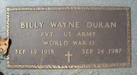 DURAN (VETERAN WWII), BILLY WAYNE - Faulkner County, Arkansas | BILLY WAYNE DURAN (VETERAN WWII) - Arkansas Gravestone Photos