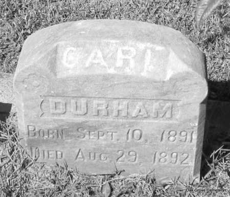 DURHAM, CARL - Faulkner County, Arkansas   CARL DURHAM - Arkansas Gravestone Photos
