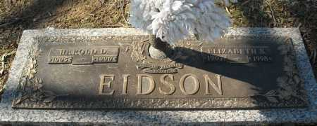 EIDSON, HAROLD D. - Faulkner County, Arkansas | HAROLD D. EIDSON - Arkansas Gravestone Photos