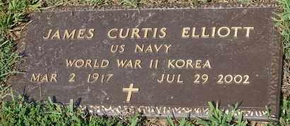 ELLIOTT (VETERAN 2 WARS), JAMES CURTIS - Faulkner County, Arkansas   JAMES CURTIS ELLIOTT (VETERAN 2 WARS) - Arkansas Gravestone Photos
