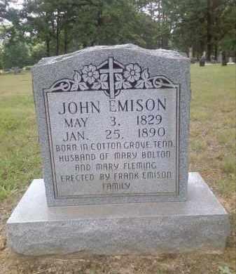 EMISON, JOHN - Faulkner County, Arkansas   JOHN EMISON - Arkansas Gravestone Photos