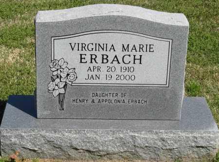 ERBACH, VIRGINIA MARIE - Faulkner County, Arkansas | VIRGINIA MARIE ERBACH - Arkansas Gravestone Photos
