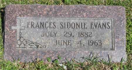 EVANS, FRANCES SIDONIE - Faulkner County, Arkansas | FRANCES SIDONIE EVANS - Arkansas Gravestone Photos