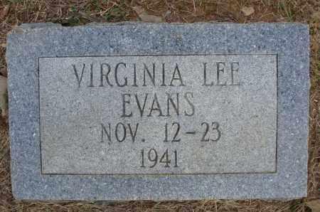 EVANS, VIRGINIA LEE - Faulkner County, Arkansas   VIRGINIA LEE EVANS - Arkansas Gravestone Photos