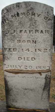 FARRAR, J.J. - Faulkner County, Arkansas | J.J. FARRAR - Arkansas Gravestone Photos
