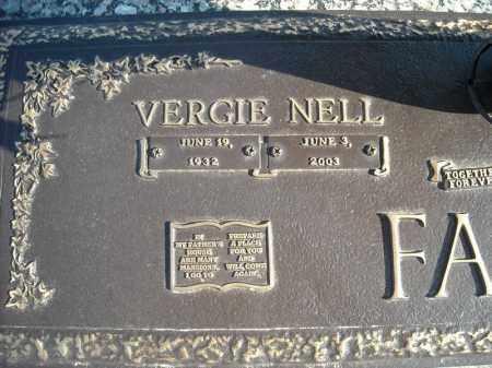 FASON, VERGIE NELL (CLOSEUP) - Faulkner County, Arkansas   VERGIE NELL (CLOSEUP) FASON - Arkansas Gravestone Photos