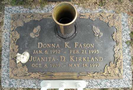 FASON, DONNA K. - Faulkner County, Arkansas   DONNA K. FASON - Arkansas Gravestone Photos
