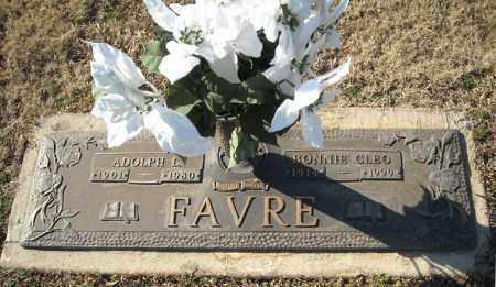 FAVRE, BONNIE CLEO - Faulkner County, Arkansas   BONNIE CLEO FAVRE - Arkansas Gravestone Photos