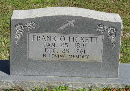 FICKETT, FRANK O. - Faulkner County, Arkansas   FRANK O. FICKETT - Arkansas Gravestone Photos
