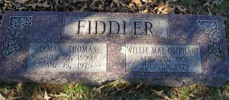 OLIPHANT FIDDLER, WILLIE MAE - Faulkner County, Arkansas   WILLIE MAE OLIPHANT FIDDLER - Arkansas Gravestone Photos