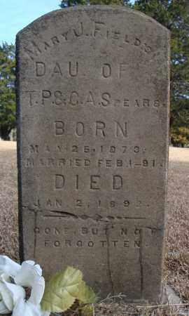 SPEARS FIELDS, MARY J. - Faulkner County, Arkansas | MARY J. SPEARS FIELDS - Arkansas Gravestone Photos