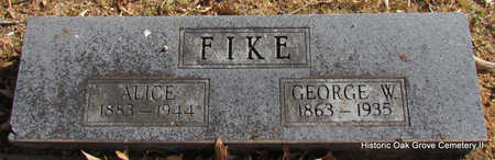 FIKE, ALICE - Faulkner County, Arkansas | ALICE FIKE - Arkansas Gravestone Photos