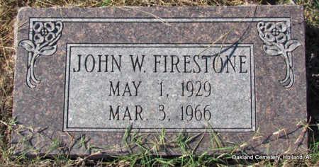 FIRESTONE, JOHN WILLIAM - Faulkner County, Arkansas | JOHN WILLIAM FIRESTONE - Arkansas Gravestone Photos