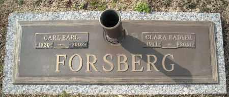 FORSBERG, CARL EARL - Faulkner County, Arkansas | CARL EARL FORSBERG - Arkansas Gravestone Photos