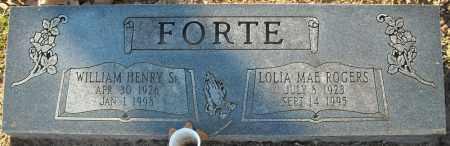 FORTE, SR., WILLIAM HENRY - Faulkner County, Arkansas | WILLIAM HENRY FORTE, SR. - Arkansas Gravestone Photos
