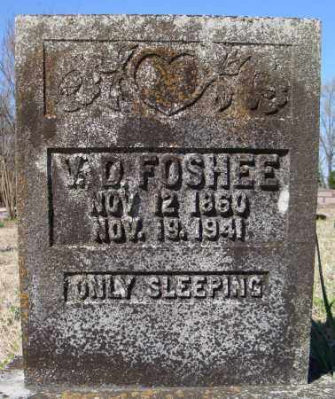 FOSHEE, V.D. - Faulkner County, Arkansas | V.D. FOSHEE - Arkansas Gravestone Photos