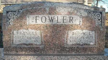 FOWLER, REV., W.L. - Faulkner County, Arkansas   W.L. FOWLER, REV. - Arkansas Gravestone Photos