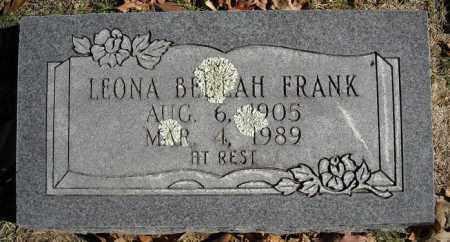 FRANK, LEONA BEULAH - Faulkner County, Arkansas | LEONA BEULAH FRANK - Arkansas Gravestone Photos
