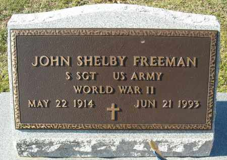 FREEMAN (VETERAN WWII), JOHN SHELBY - Faulkner County, Arkansas | JOHN SHELBY FREEMAN (VETERAN WWII) - Arkansas Gravestone Photos