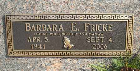 FRICKE, BARBARA E. - Faulkner County, Arkansas | BARBARA E. FRICKE - Arkansas Gravestone Photos