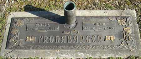 FRONABARGER, ELMER L. - Faulkner County, Arkansas | ELMER L. FRONABARGER - Arkansas Gravestone Photos