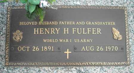 FULFER (VETERAN WWI), HENRY H - Faulkner County, Arkansas | HENRY H FULFER (VETERAN WWI) - Arkansas Gravestone Photos