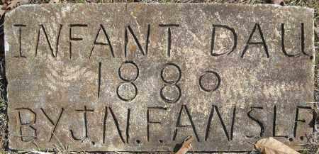 FULMER, INFANT DAUGHTER 1 - Faulkner County, Arkansas   INFANT DAUGHTER 1 FULMER - Arkansas Gravestone Photos