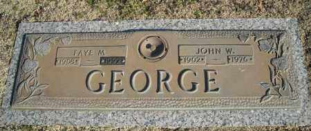 GEORGE, FAYE M. - Faulkner County, Arkansas | FAYE M. GEORGE - Arkansas Gravestone Photos