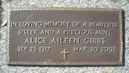 GIBBS, ALICE AILEEN - Faulkner County, Arkansas | ALICE AILEEN GIBBS - Arkansas Gravestone Photos