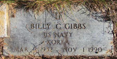 GIBBS (VETERAN KOR), BILLY C - Faulkner County, Arkansas   BILLY C GIBBS (VETERAN KOR) - Arkansas Gravestone Photos