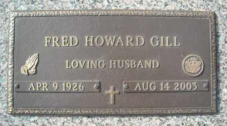 GILL (VETERAN), FRED HOWARD - Faulkner County, Arkansas   FRED HOWARD GILL (VETERAN) - Arkansas Gravestone Photos