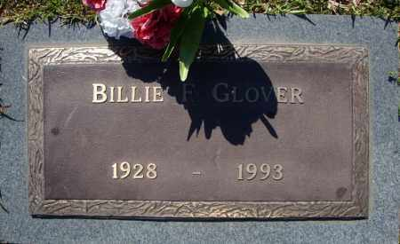 GLOVER, BILLIE F. - Faulkner County, Arkansas   BILLIE F. GLOVER - Arkansas Gravestone Photos