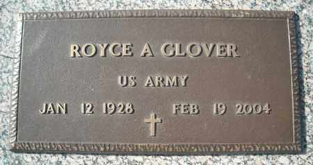GLOVER (VETERAN), ROYCE A - Faulkner County, Arkansas | ROYCE A GLOVER (VETERAN) - Arkansas Gravestone Photos