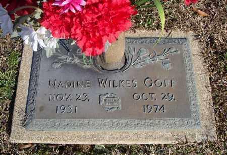 WILKES GOFF, NADINE - Faulkner County, Arkansas | NADINE WILKES GOFF - Arkansas Gravestone Photos