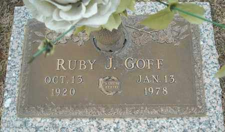 GOFF, RUBY J. - Faulkner County, Arkansas   RUBY J. GOFF - Arkansas Gravestone Photos