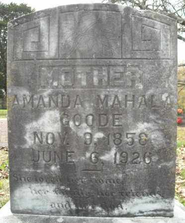 GOODE, AMANDA MAHALA - Faulkner County, Arkansas   AMANDA MAHALA GOODE - Arkansas Gravestone Photos