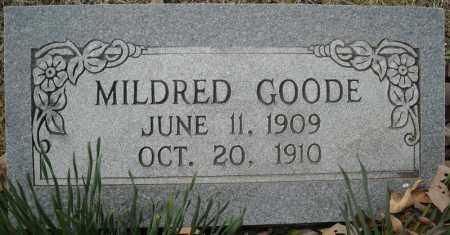 GOODE, MILDRED - Faulkner County, Arkansas | MILDRED GOODE - Arkansas Gravestone Photos