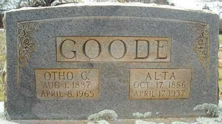 GOODE, NANCY ALTA - Faulkner County, Arkansas | NANCY ALTA GOODE - Arkansas Gravestone Photos