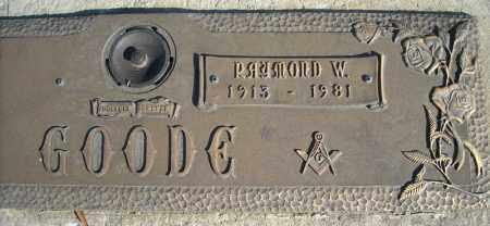 GOODE, RAYMOND W. - Faulkner County, Arkansas | RAYMOND W. GOODE - Arkansas Gravestone Photos