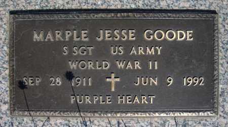 GOODE (VETERAN WWII), MARPLE JESSE - Faulkner County, Arkansas | MARPLE JESSE GOODE (VETERAN WWII) - Arkansas Gravestone Photos