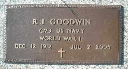 GOODWIN (VETERAN WWII), R J - Faulkner County, Arkansas | R J GOODWIN (VETERAN WWII) - Arkansas Gravestone Photos