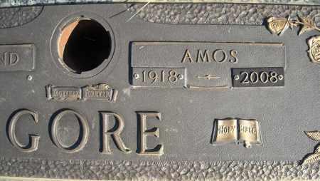 GORE, AMOS (CLOSE UP) - Faulkner County, Arkansas | AMOS (CLOSE UP) GORE - Arkansas Gravestone Photos