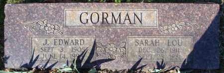 GORMAN, J. EDWARD - Faulkner County, Arkansas | J. EDWARD GORMAN - Arkansas Gravestone Photos