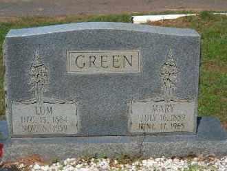 GREEN, LUM - Faulkner County, Arkansas   LUM GREEN - Arkansas Gravestone Photos
