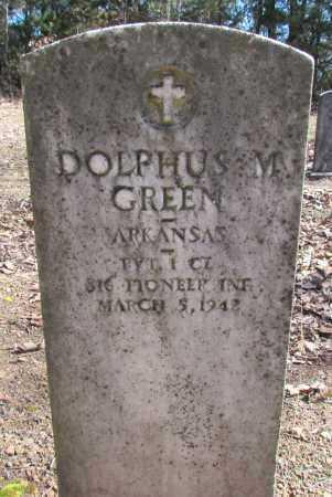 GREEN (VETERAN), DOLPHUS M - Faulkner County, Arkansas | DOLPHUS M GREEN (VETERAN) - Arkansas Gravestone Photos
