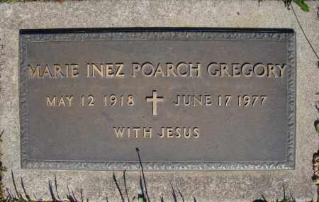 POARCH GREGORY, MARIE INEZ - Faulkner County, Arkansas | MARIE INEZ POARCH GREGORY - Arkansas Gravestone Photos