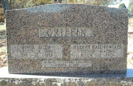 GRIFFIN, MINOR AFTON - Faulkner County, Arkansas | MINOR AFTON GRIFFIN - Arkansas Gravestone Photos